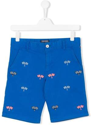 Tommy Hilfiger Junior Teen flag embroidered shorts