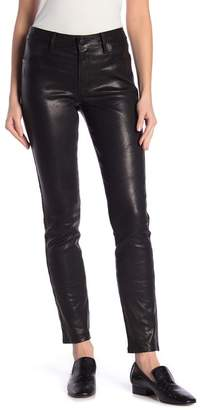 J Brand Maude Lamb Leather Mid-Rise Pants