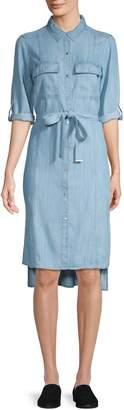 Jones New York High-Low Denim Shirtdress