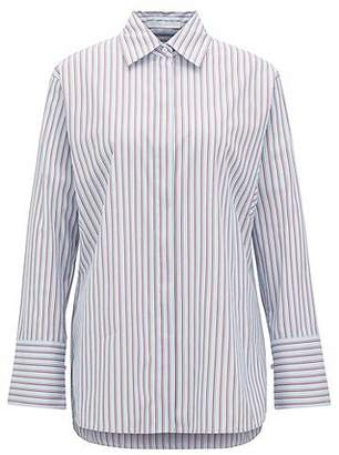 HUGO BOSS Relaxed-fit blouse with vertical stripe and wedge sleeve