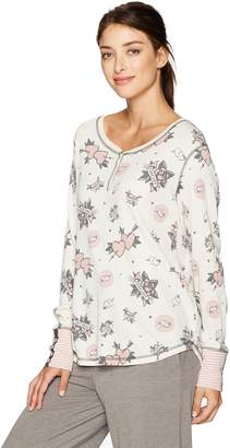PJ Salvage Women's Forever and Ever Henley Shirt