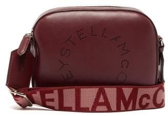 Stella McCartney Logo Strap Faux Leather Camera Bag - Womens - Burgundy