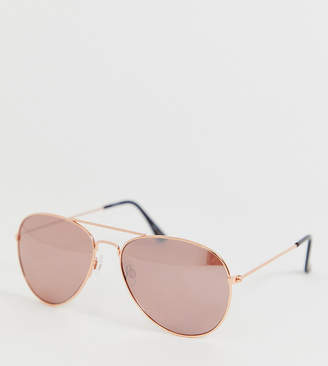 a8e015cb1efd Accessorize Chantal aviator rose gold sunglasses