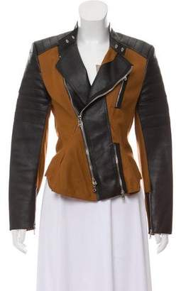 3.1 Phillip Lim Leather-Paneled Wool Jacket w/ Tags