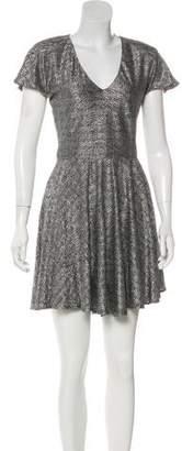 Alexis Metallic Mini Dress