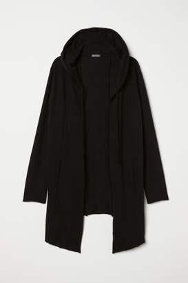 H&M Hooded Sweatshirt Cardigan - Black