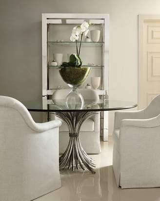 """Bernhardt Gwinn 54"""" Glass-Top Dining Table"""