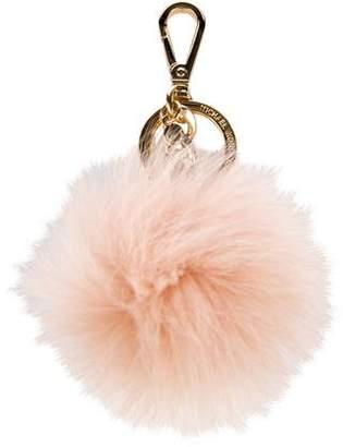 Michael Kors Pom-Pom Fur Keychain