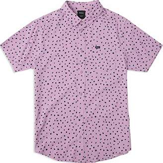 RVCA Men's Shake Along Short Sleeve Woven Button Front Shirt