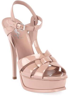 Saint Laurent Tribute Patent Leather 75mm Sandals