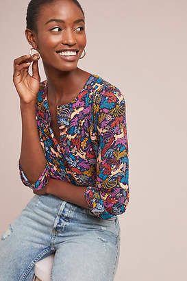 Anthropologie 52 Conversations by Colloquial Yoked Buttondown