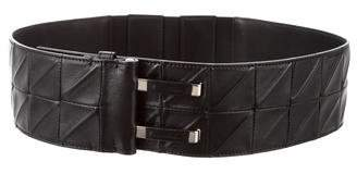 Givenchy Embossed Leather Waist Belt