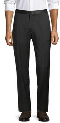 Isaia Buttoned Wool Tuxedo Pants