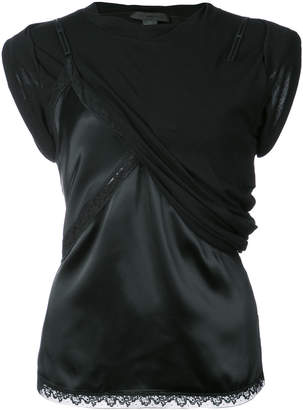 Alexander Wang hybrid cami with lace detail