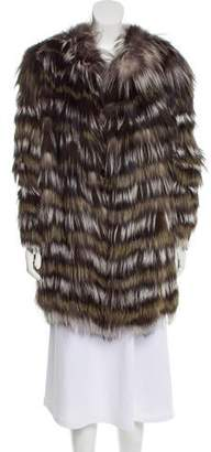 Etro Collarless Fur Coat