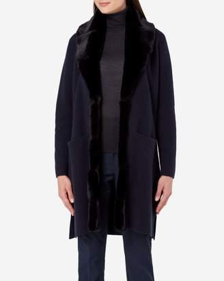 N.Peal Fur Collar Milano Coat
