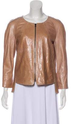 Robert Rodriguez Leather Long-Sleeve Jacket