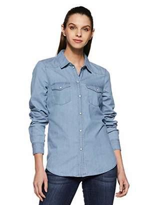 ... Vero Moda Women s VMDAISY DENIM SHIRT LT BLUE NS Blouse,34 ( ) 6a461c969f0d