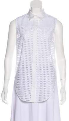 3.1 Phillip Lim Eyelet Sleeveless Button-Up w/ Tags