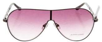 Judith Leiber Hematite Shield Sunglasses w/ Tags