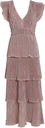 Saylor Luba Rainbow Lurex Tiered Dress