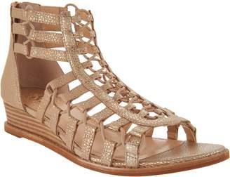 Vince Camuto Leather Gladiator Wedge Sandals - Richetta