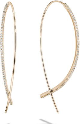 Lana Small Upside Down Flawless Diamond Hoop Earrings