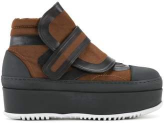 Marni flatform velcro ankle boots