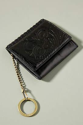 Hobo Embossed Leather Mini Wallet