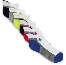 Ralph Lauren Little Boy's& Boy's Six-Pack Athletic Crew Sock Set