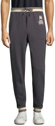 Psycho Bunny Men's Brushed Stripe Cotton Jogger Pants