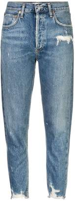 A Gold E AGOLDE distressed high-rise jeans