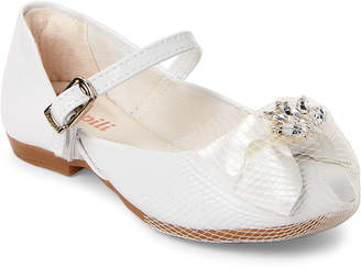 Pampili Toddler/Kids Girls) White Bow Mary Jane Shoes