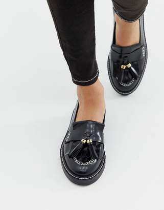 9859c450d4a5 Asos Design DESIGN Militant premium chunky leather loafer flat shoes