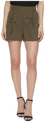 1 STATE 1.STATE Flat Front Shorts w/ Lace-Up Waist Detail Women's Shorts