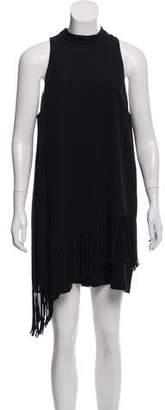 Elizabeth and James Fringe-Trimmed Mini Dress