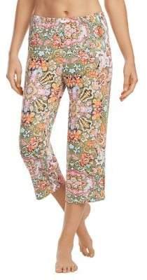 Ellen Tracy Cropped Damask Peg-Leg Pants
