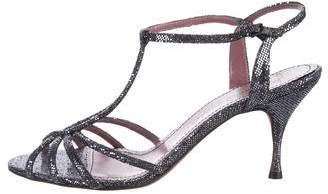 Jean-Michel Cazabat Glitter T-Srap Sandals
