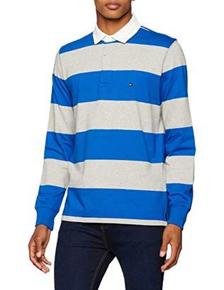 Tommy Hilfiger Men s Iconic Block Stripe Rugby Polo Shirt fabc731a201
