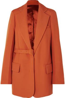 Joseph Gemina Grain De Poudre Wool-blend Blazer - Orange