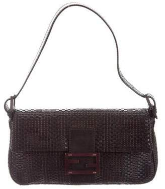 Fendi Woven Leather Baguette