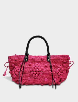Gerard Darel 25 GD Raphia Basket Bag in Fuchsia Raffia