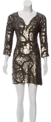 Antik Batik Sequin Mini Dress Olive Sequin Mini Dress