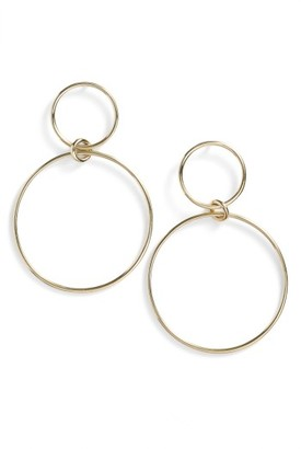 Women's Bony Levy Geo Circle Drop Earrings (Nordstrom Exclusive) $650 thestylecure.com