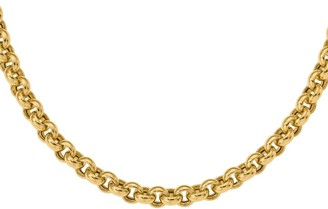 Italian Gold Bold Rolo Link Necklace, 14K