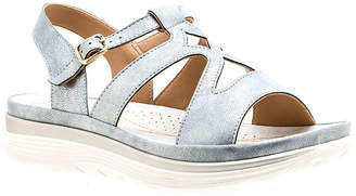 GC SHOES GC Shoes Womens Karly Adjustable Strap Flat Sandals