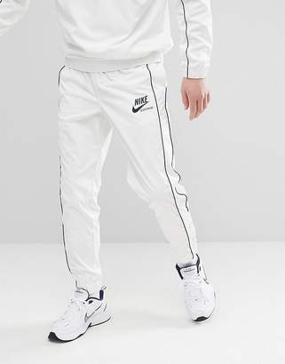 Nike Archive Joggers With Popper In White 941879-133
