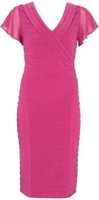 1dabcb8450109 Mint Velvet Cerise Panelled Bandage Dress