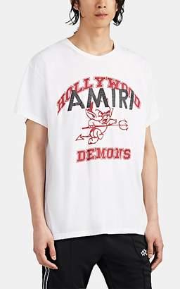 "Amiri Men's ""Hollywood Demons"" Cotton T-Shirt - White"