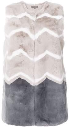 N.Peal patterned gilet